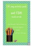 CVC peg clip cards - build words