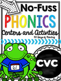 CVC Worksheets and Games for Fluency Practice at Centers or Small Groups