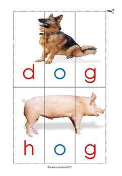 CVC picture 3-part puzzles