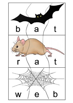 CVC self correcting word/picture puzzles