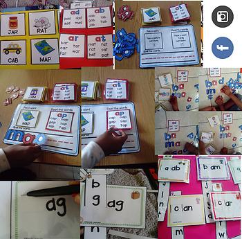 CVC short A Word Sliders - Match A Word (sunnah learners)