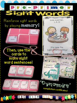 CVC short A word families decodable and pre-primer sight words with activities