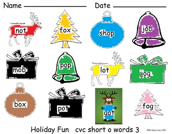 CVC short O Center or Activity 3