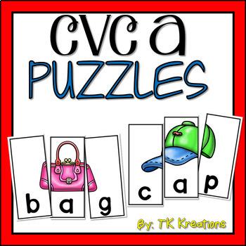 CVC short a Puzzles
