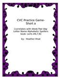 CVC short a game- Words Their Way sorts 6-8