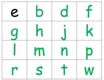CVC - short e word cards