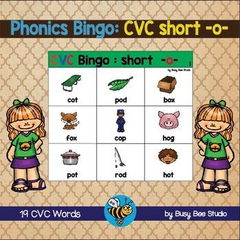 """ESL Games - CVC Bingo short """"o"""""""
