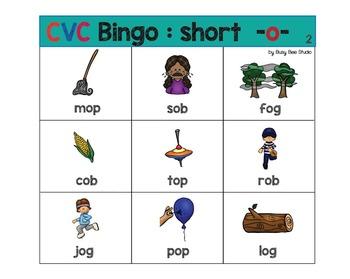 CVC Game| Short -o- Bingo