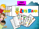 CVC short o and u flash cards