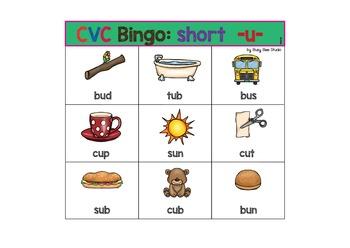 """ESL Games - CVC Bingo short """"u"""""""
