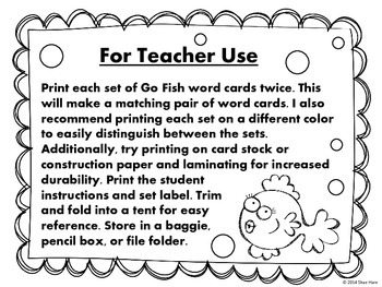 CVC short vowels {Go Fish} Word Work [Reading] Station Center Game