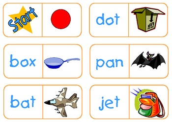 CVC (short vowel) Dominoes