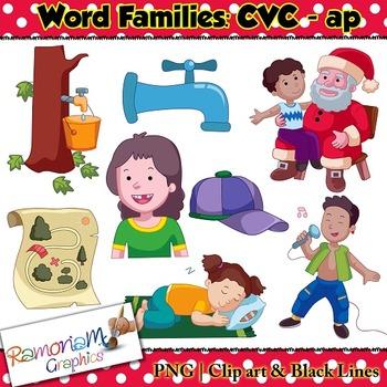 CVC short vowel ap clip art