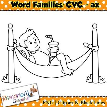 CVC short vowel ax clip art