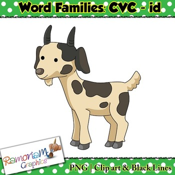 CVC short vowel id clip art