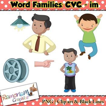 CVC short vowel im clip art