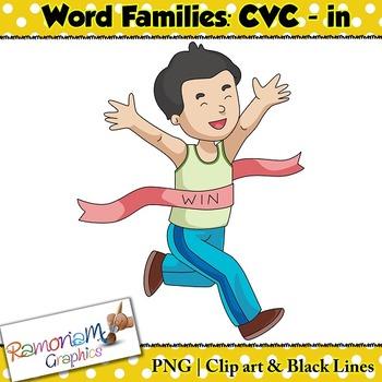 CVC short vowel in clip art