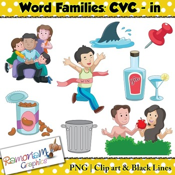 CVC short vowel in clip art