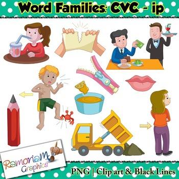 CVC short vowel ip clip art