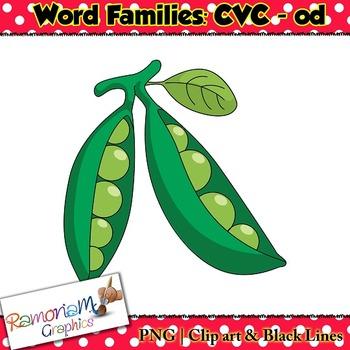 CVC short vowel od clip art