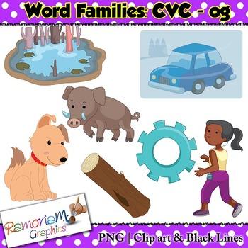 CVC short vowel og clip art