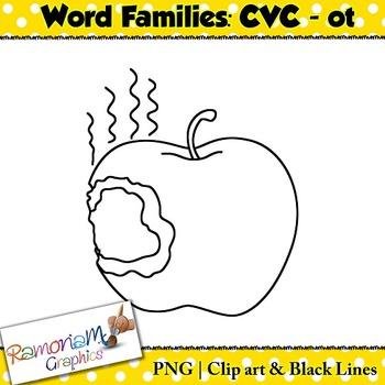 CVC short vowel ot clip art