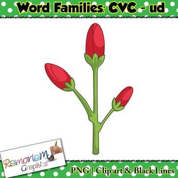 CVC short vowel ud clip art