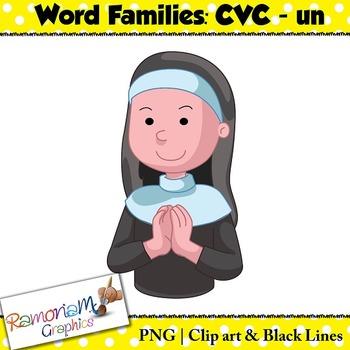 CVC short vowel un clip art