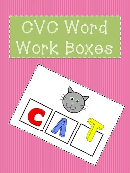 CVC Word Work Segmentation Boxes