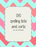 CVC spelling lists and sort