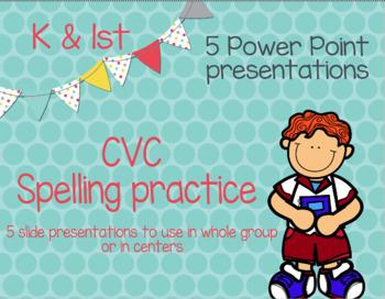 CVC spelling practice PowerPoints
