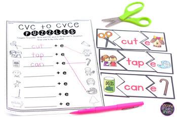 CVC to CVCe Puzzles