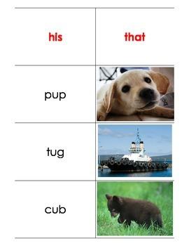 "CVC ""u"" words"