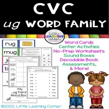 CVC ug Word Family Packet ~ Short u