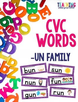CVC -un Words