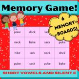 CVC vs Silent e Concentration Memory board games- Orton Gi