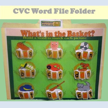 Phonics File Folder: Build CVC Words
