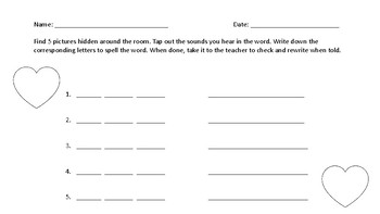 CVC word Write the Room Heart