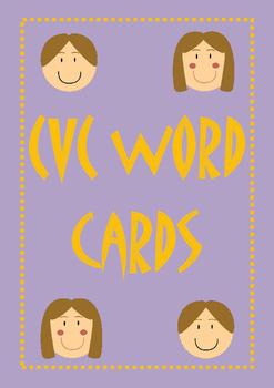 CVC word cards - build CVC words