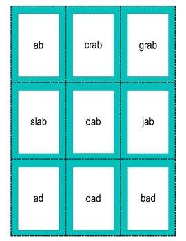 CVC word family flashcards