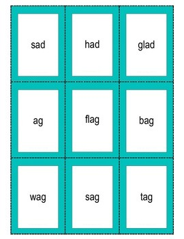 CVC word family flashcards