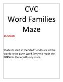 CVC word family trace