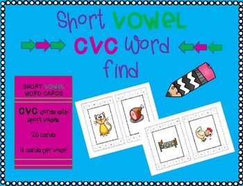 CVC word find and build