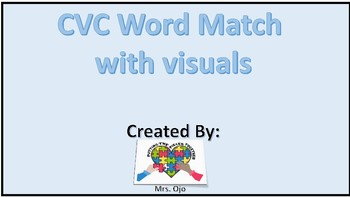 CVC word match with visuals