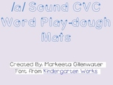 CVC word play-dough mats using /a/
