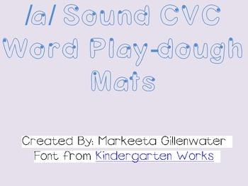 CVC word play-dough mats using /a/