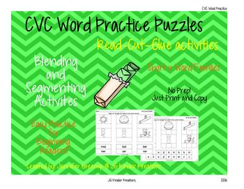 Phonics Practice pages CVC word practice