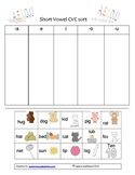 CVC word sorts (Short vowel word families)