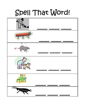 CVC word spelling & ending sound Page 1