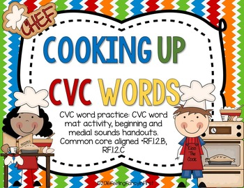 Word work- Cooking Up CVC Words
